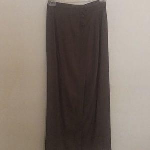 Rayon calf length wrap skit taupe color